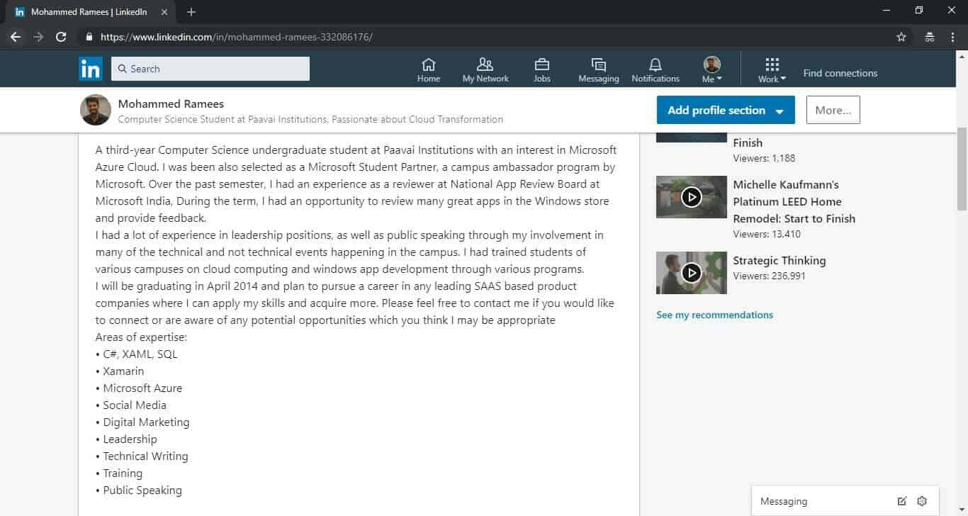 Customizing Your Profile Linkedin For Students Campus