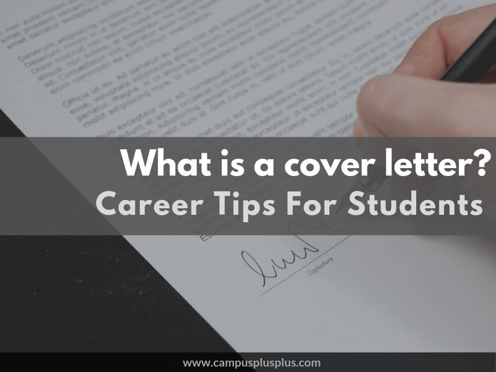 What is a cover letter when applying for a job
