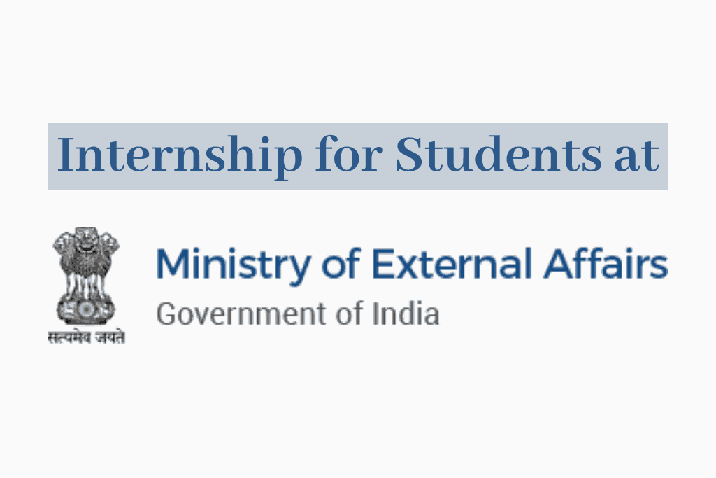 Government Internships at MEA