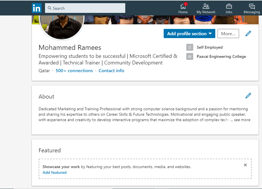 how to upload resume in linkedin